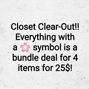 Closet clear out 🌸 Bundle deal 4 items for 25$